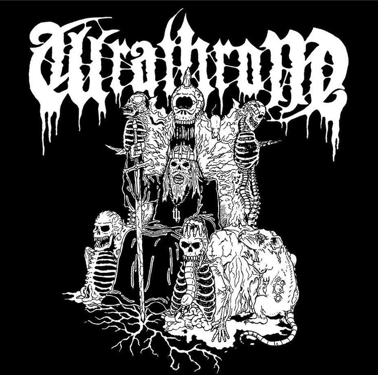 Shirt design for the Finnish DM band Wrathrone