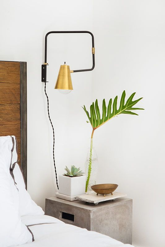 Add an industrial vibe to your space with concrete lighting pendants or planters. #etsy #homepolish