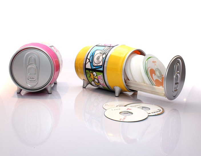 Soda CD Can: Innovation Corner, Sodas Cd, Music Things, Cd Organizations