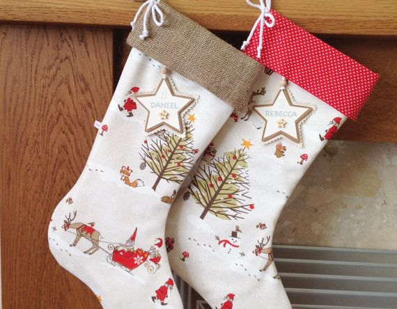 Hey, I found this really awesome Etsy listing at https://www.etsy.com/listing/254106087/woodland-christmas-stocking-hessian
