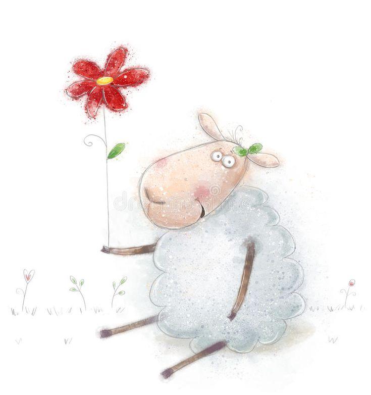 Овцы на открытках, будь здоров для