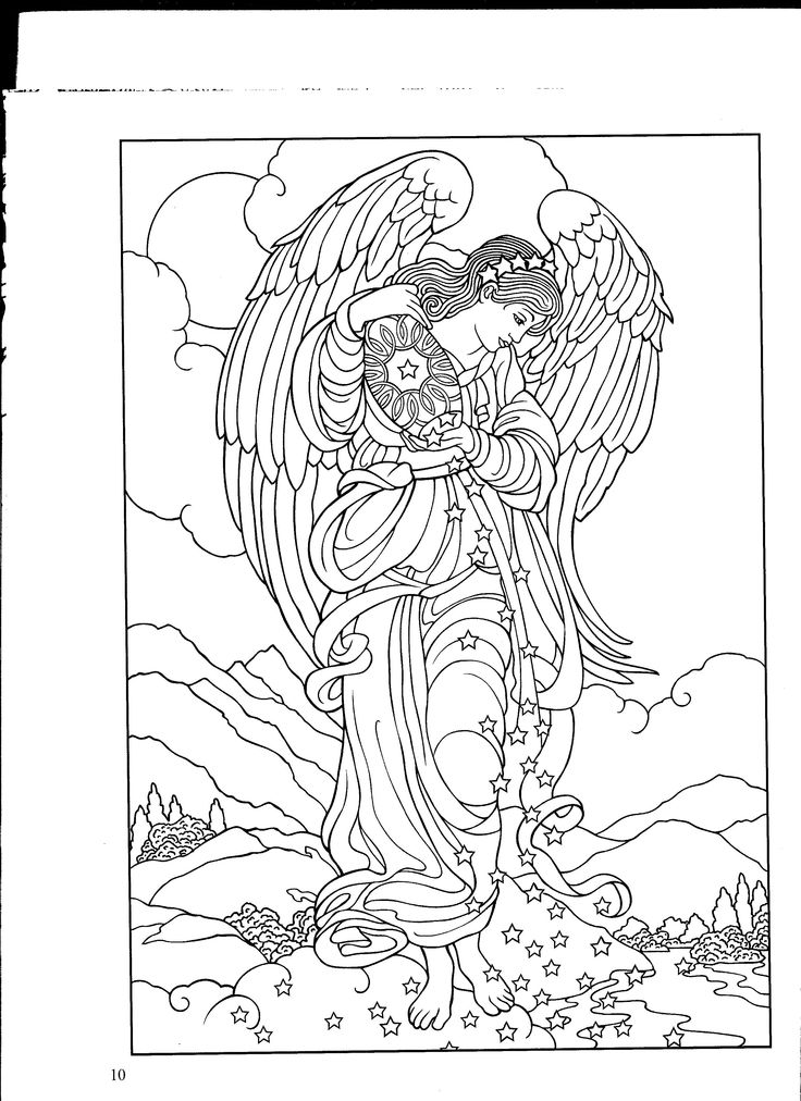 warrior angel coloring pages - photo#25