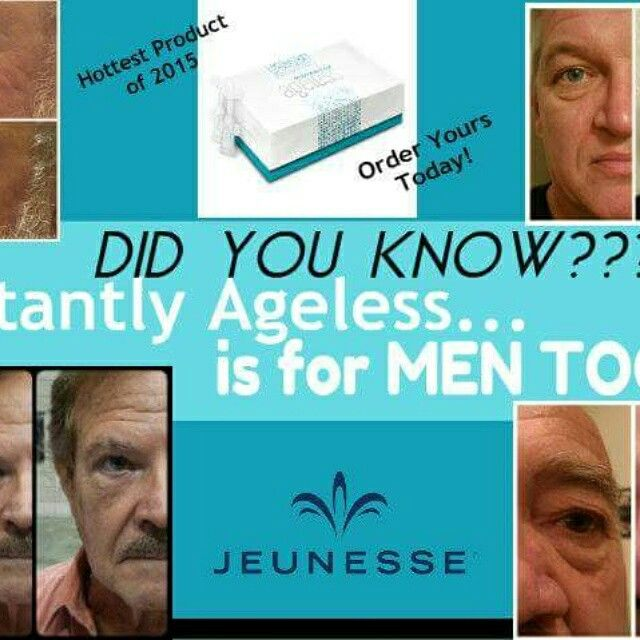 Instantly Ageless is for men too! www.amiewolff.jeunesseglobal.com