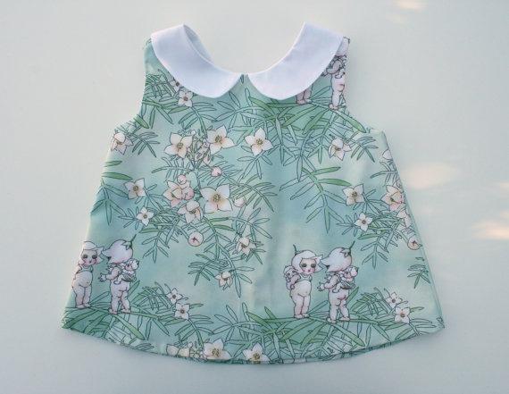 May Gibbs Gumnut Babies Peter Pan Collar Dress by amelieandatticus, $30.00