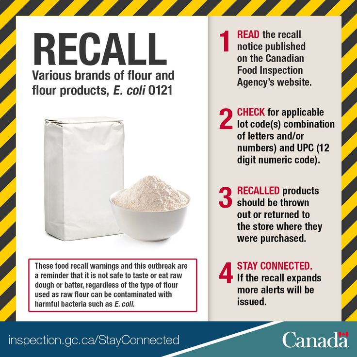 Updated Food Recall Warning - Various brands of flour and flour products recalled due to E. coli O121