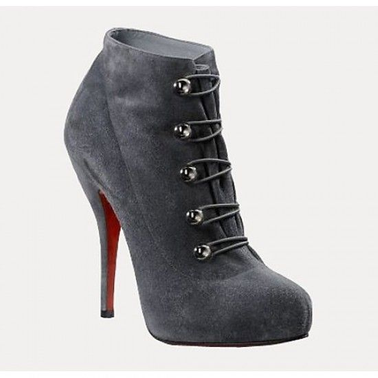 cheap Christian Louboutin Suede Ankle Boots Grey http://www.louboutinusa.com/christian-louboutin/christian-louboutin-booties/christian-louboutin-suede-ankle-boots-grey.html