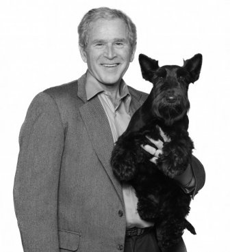 RIP Barney Bush.Former first dog Barney, George W. Bush's black Scottish terrier has died at the age of 12 after losing a battle to lymphoma, the ex-president said.  Not a fan of President Bush but Barney was so cute and I sympathize with the Bush family on the loss of their beloved Barney.