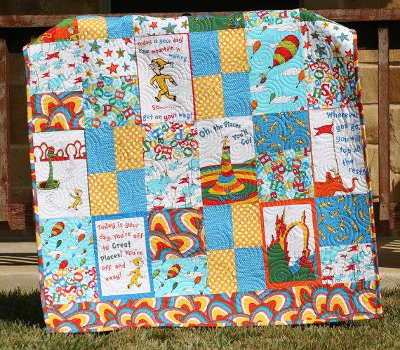 80 best dr seuss quilts images on Pinterest | Baby art crafts ... : dr suess quilt - Adamdwight.com
