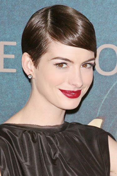 Flattering side part: line it up with the outer corner of your eyebrow
