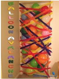Give a surprising morning to your kid by decorate your kid room with colorful balloons.