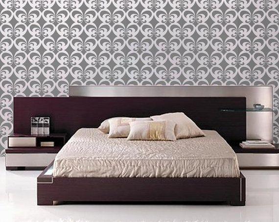 Allover Stencil for Walls - Fleur de Lis Pattern - Large