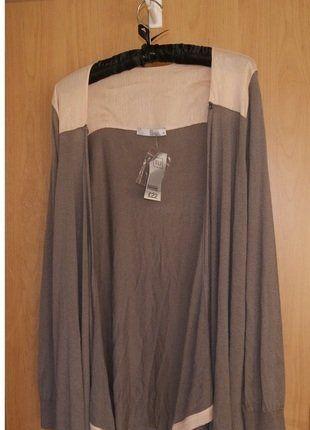 Kup mój przedmiot na #vintedpl http://www.vinted.pl/damska-odziez/kardigany/15906295-sweterek-narzutka-odcien-szarosci-z-blyszczacym-rozem