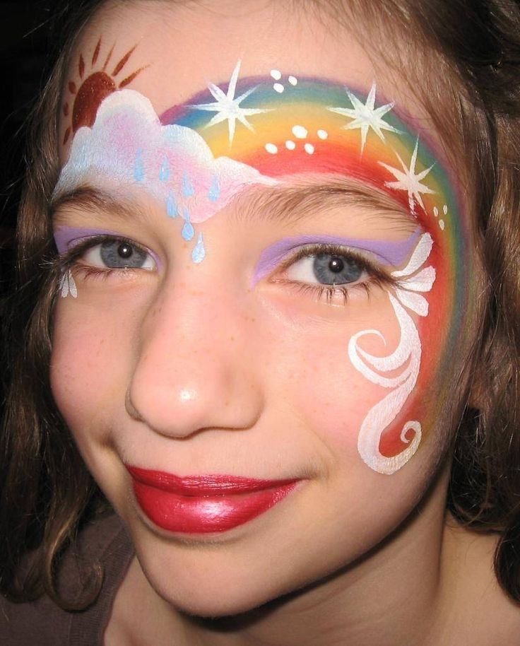 Maquillaje de arco iris