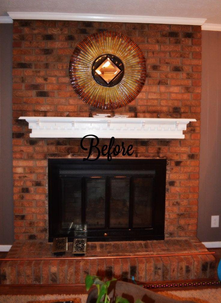 Fireplace Mantel brick fireplace mantel : 25 best Brick Fireplace Makeover images on Pinterest