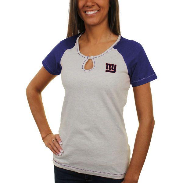 Antigua New York Giants Women's Crush Raglan T-Shirt - Gray - $19.99