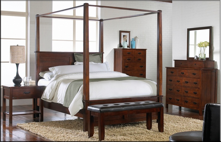 mission style bedroom set Canopy bedroom sets, Canopy