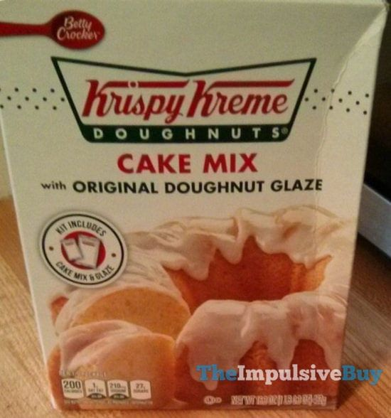 It's probably the Krispy Kreme doughnut glaze that makes this special. The cake mix is most likely just standard Betty Crocker mix. I guess what I'm trying to say is that Krispy Kreme s…