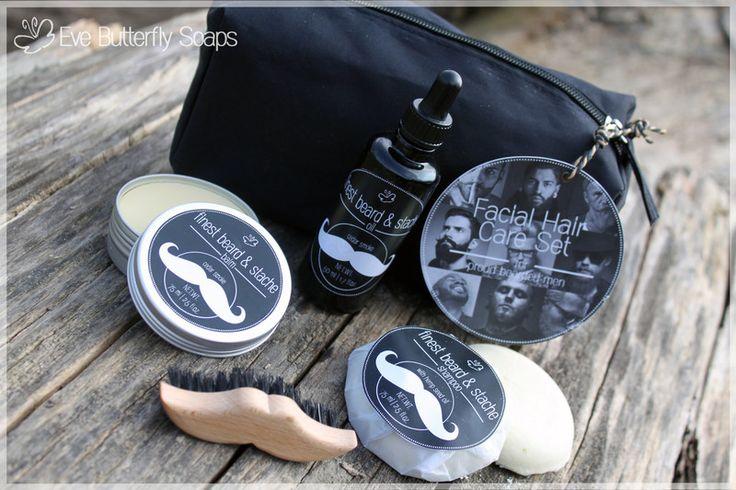 Bartpflege+Set+-+Facial+Hair+Care+Set+von+Eve+Butterfly+Soaps+auf+DaWanda.com Bartpflege Bartöl Bartbalsam Bartshampoo Beardoil Beard Balm