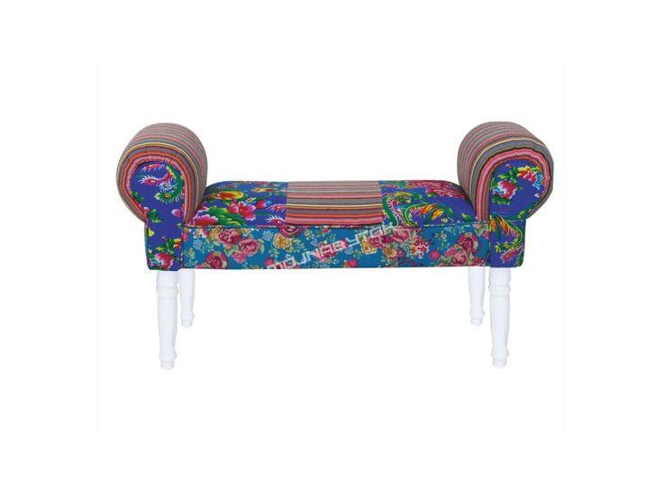 Štýlová lavica CHARADE / modrá s tromi farebnými prevedeniami nôh.