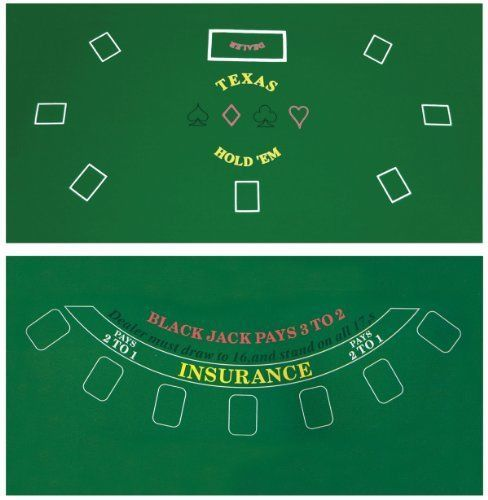 Poker-Table-Top-Green-Mat-Pad-Blackjack-Texas-Cover-Sealed-HoldEm-2-Side-Compact