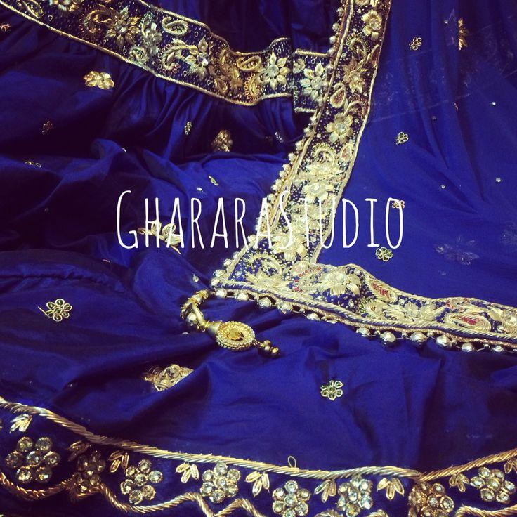 Gharara in pure silk Royal blue colour with fine zardozi handcraft embroidery all over.  #Gharara #ghararastudio #ghararastudiobyshazia #ghararadesign #ghararafashion #ghararadesigner #fashion #glamour #style #indiandress #indiantradition #muslimwear #muslimbride #sangeetdress #blog #blogger #fashionblogger #instafashion #fashiongram #fashiongirl #orderonline #customisedgharara