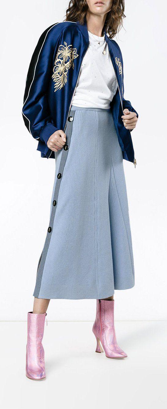 Roksanda Kaori Buttoned Knitted Skirt