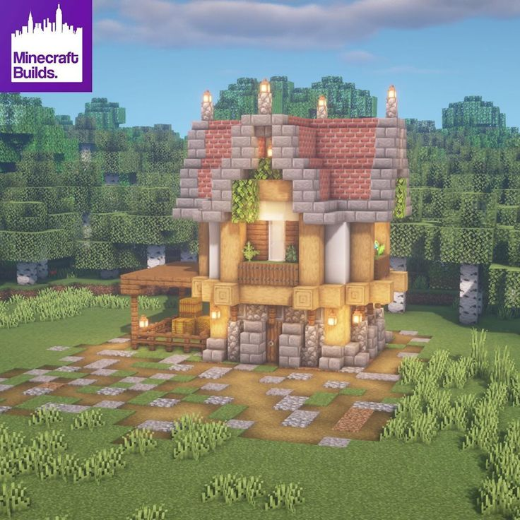 Medieval Minecraft Small House Designs 4