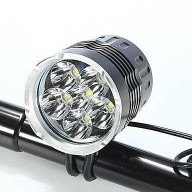 Otsalamput+/+Pyöräilyvalot+LED+Cree+XM-L+T6+Pyöräily+Vedenkestävä+/+ladattava+/+Iskunkestävä+/+Helppo+kantaa+18650+LumeniaPatteri+/+AC+–+EUR+€+39.19