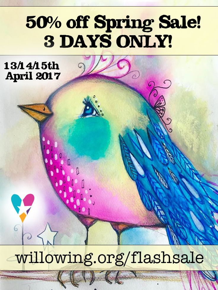 Hello fabulous friends! We are running a WHOPPING 50% off Spring Sale on all self study courses for 3 days only! :) Check it out here: :D - Offer runs on 13/14/15th April 2017! :) Go bananas!! ;)