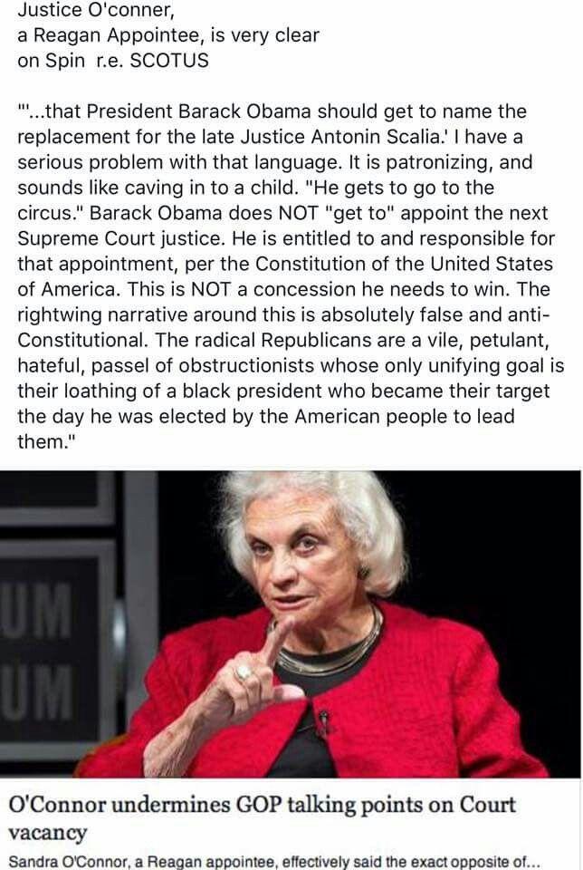 SC Justice Sandra Day O'Connor, Retired