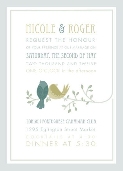 wedding invitations - bird embrace by Danielle Hartgers