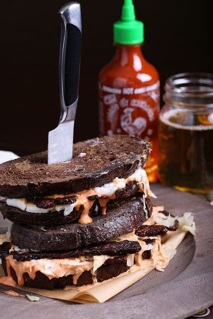 Olives for Dinner | Vegan Recipes and Photography: Vegan Reuben Sandwich