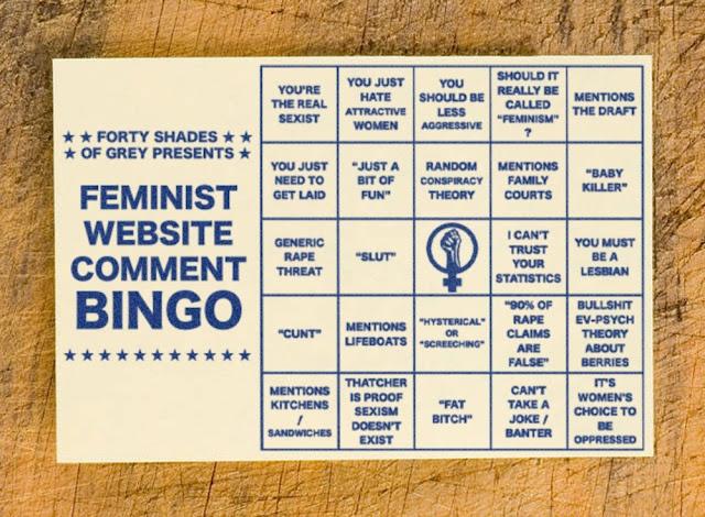 Feminist Website Comment BINGO