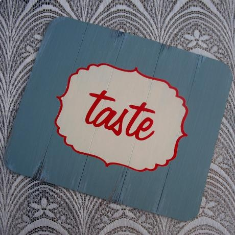 """Teal """"Taste"""" Placemat – Set of 4 from Mossie Handmade"""
