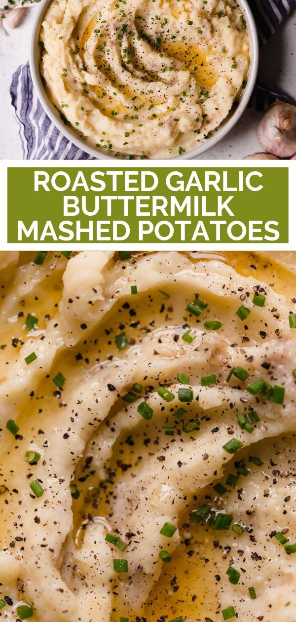 Roasted Garlic Buttermilk Mashed Potatoes Plays Well With Butter Recipe Buttermilk Mashed Potatoes Potato Recipes Side Dishes Gold Potato Recipes