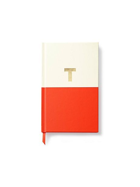 for the lady (or man) of letters comes the ideal notebook. With a vibrant, freshly painted appeal,  gilded monogram and silk bookmark, this journal organizes dreams, doodles and to-dos.