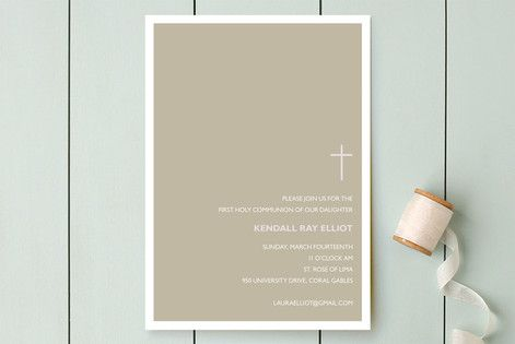 Bisect First Holy Communion Invitations by Marabou Design at minted.com