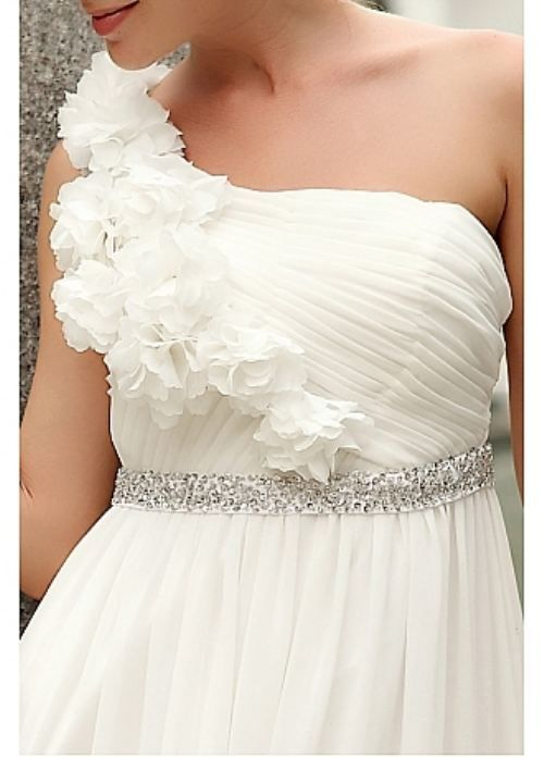 beautiful one shoulder wedding dress :)