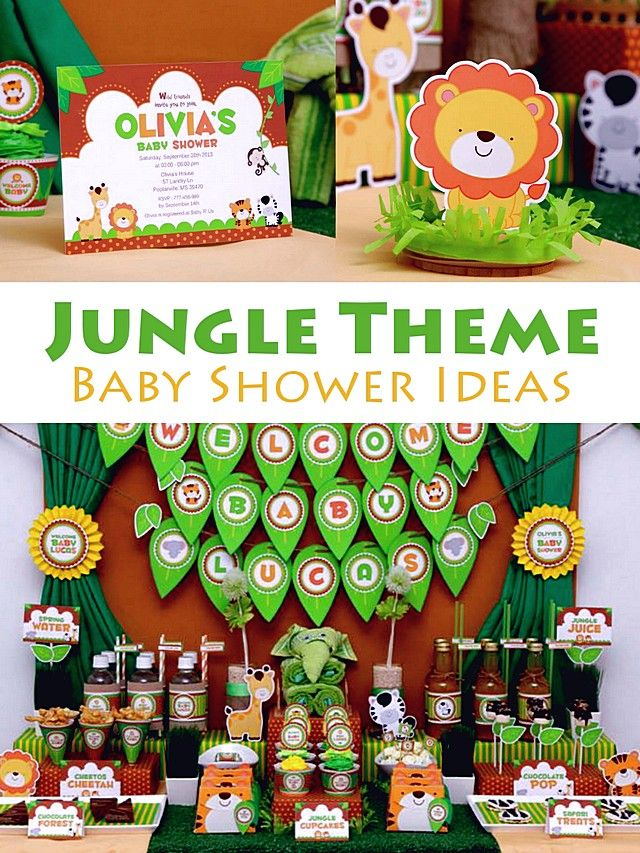 Baby Shower Unisex Themes Jungle   Buscar Con Google | Ideas | Pinterest |  Babies, Jungle Party And Baby Shower Themes