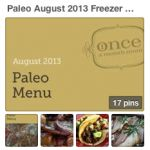 Paleo August 2013 Freezer Menu