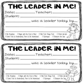Best Leader In Me  Seven Habits Images On    Habits