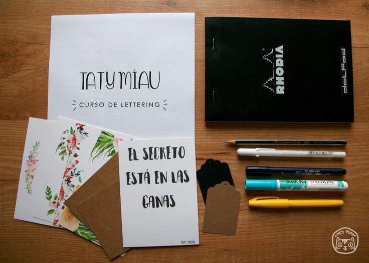Curso de Lettering de TatyMiau en Etsy
