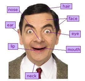 Mr Bean body parts for ESL! #3