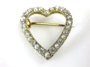 Tiffany Heart Brooch