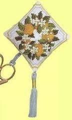 Textile Heritage Scissor Keep Cross Stitch Kit - Orange Blossom