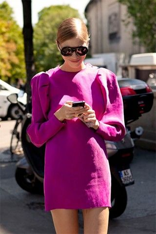 "Elena Perminova, model, after Armani    ""I'm wearing a Lanvin dress."""