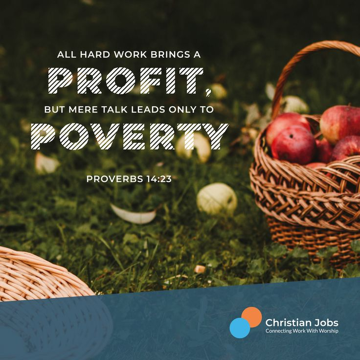 Proverbs 1423 in 2020 Christian jobs, Youth worker