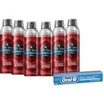 Kit Desodorante Masculino 150ml Old Spice Aero - Fresh - Antitranspirante 6 Peças + Creme Dental