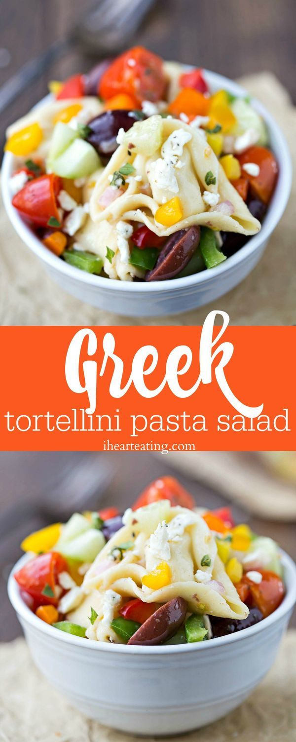 Healthy Greek Tortellini Pasta Salad Recipe #NationalTortelliniDay