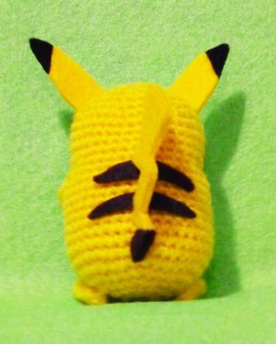 Crochet Pikachu Pokemon Amigurumi Finish Doll by ...